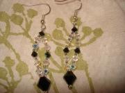 bijoux autres elegant noir blanc cristal : MaDam