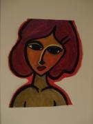 tableau personnages femme sentiment cache historique : UNA MUJER 1