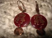 bijoux personnages amoureux rouge personnage enfantin : nez à nez