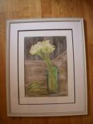 tableau fleurs abstrait tulipes transparence verre : Tulipes