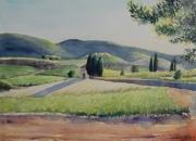 tableau paysages provence aquarelle nantes orvault : Provence