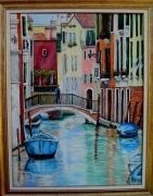 tableau architecture venise canaux de venise gondolier venise : Canal Vénitien