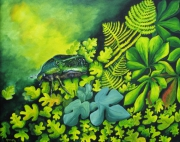 tableau animaux peinture huile scarabee animaux : Scarabée
