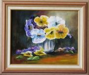 tableau fleurs fleurs : Pensées