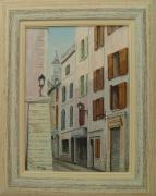 tableau architecture martigues : Une rue de Martigues