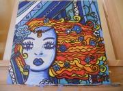 tableau personnages sirene graphisme cheveux poissons : sirène
