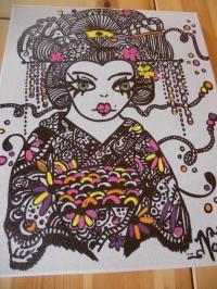 geisha au marqueur