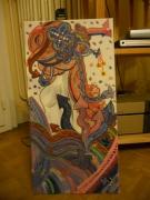 tableau personnages melancholie portrait couleurs graffiti : Vagues à lames