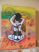 tableau personnages portrait tatouage mer graffiti : tatoo geisha