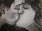 dessin personnages baiser amour : Instants partagés I