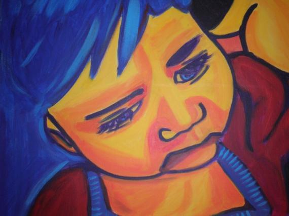 TABLEAU PEINTURE Personnages Acrylique  - Portrait