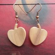 bijoux fruits boucles d oreil cerises poirier : Boucles d'oreilles en bois