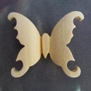 bijoux animaux broche pendenttif papillon bouleau : Broche ou pendentif en bois