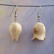 bijoux fleurs boucles d oreil poirier boutons de fleurs : Boucles d'oreilles en bois