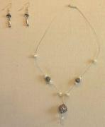 bijoux : Boules d'Argent ciselées et Perles d'eau douce
