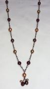 bijoux : Perles Baroques sur chaîne cuivrée