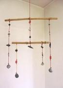 deco design : Mobile bambous, galets, perles