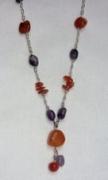 bijoux : Sautoir Améthyste et Cornaline