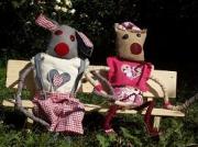 deco design : Gaston et Coralie au jardin