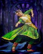 tableau personnages dansedanceantilles caraibesexpressionn peinturespeintrear evasionexotisme : India Flamenco