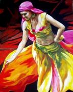 tableau autres dansedanceantilles caraibesexpressionn peinturespeintrear evasionexotisme : Belly Dance