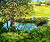 L'étang à Vinales. Cuba