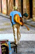 tableau personnages caraibes antilles expressionnisme figuratif : Y tu que has hecho. Cuba