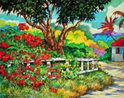 tableau paysages figuratif expressionnisme caraibes exotisme : VERS GRAND CASE