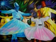 tableau personnages dansedanceantilles caraibesexpressionn peinturespeintrear evasionexotisme : Dervish