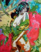 tableau nus expressionnisme figuratif couleur nu : Fanny Magique