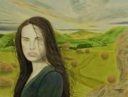 tableau personnages surrealisme realisme figuratif nature : Maria Luisa