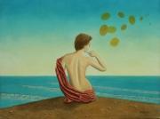 tableau marine surrealisme realisme figuratif nature : Glacis Romantique Panoramique