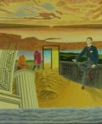 tableau personnages surrealisme realisme nature figuratif : Dimansion Spiritualiste Réaliste