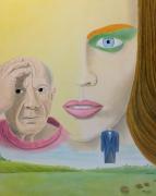 tableau personnages surrealisme realisme figuratif : Nativisme Génétique