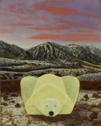 tableau animaux surrealisme realisme animalier nature : Bon jour tristesse dans le Groenland