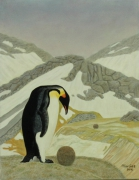 tableau animaux surrealisme realisme animalier nature : Aberration Psychosomatique en Antarctique