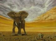 tableau autres animaux elephants surrealisme afrique : Vestiges archéologiques en Afrique
