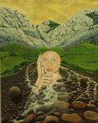 tableau personnages surrealisme realisme nature figuratif : La Rondeur Romantique Cryptogénétique