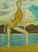tableau personnages surrealisme realisme figuratif nature : Le Retour d'Aphrodite