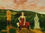 tableau personnages surrealisme realisme figuratif nature : Psychorigidité de L'Absurdité