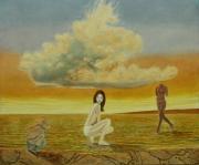 tableau personnages personnage surrealisme paysage aquatique : Psychocritique psychophysiologique aquatique