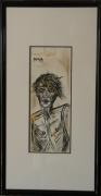 tableau personnages portrait anguleux encre de chine maigre : Zargo
