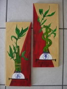 tableau fleurs bamboo lucky asie deco : Lucky bamboo