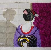 tableau personnages geisha ombre chine asie : La geisha et son ombre