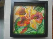 tableau fleurs iris fleur sauvage deco : Iris sauvage