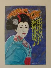 geisha bleue