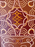 tableau abstrait abstrait brun afrique volute : delire brun