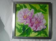 tableau fleurs pivoine fleur rose decor : pivoines roses