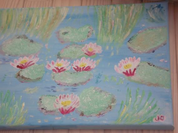 TABLEAU PEINTURE Fleurs Peinture a l'huile  - NYMPHEAS
