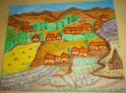 tableau paysages : LA PLAINE DU LUBERON